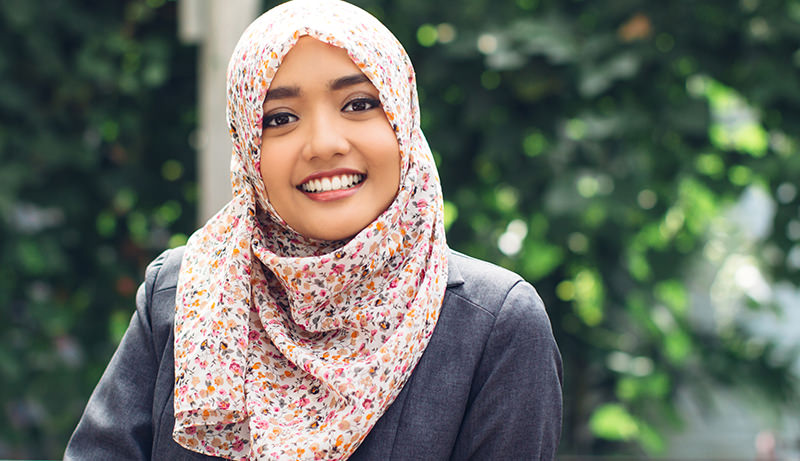 Young Indonesian woman wearing hijab