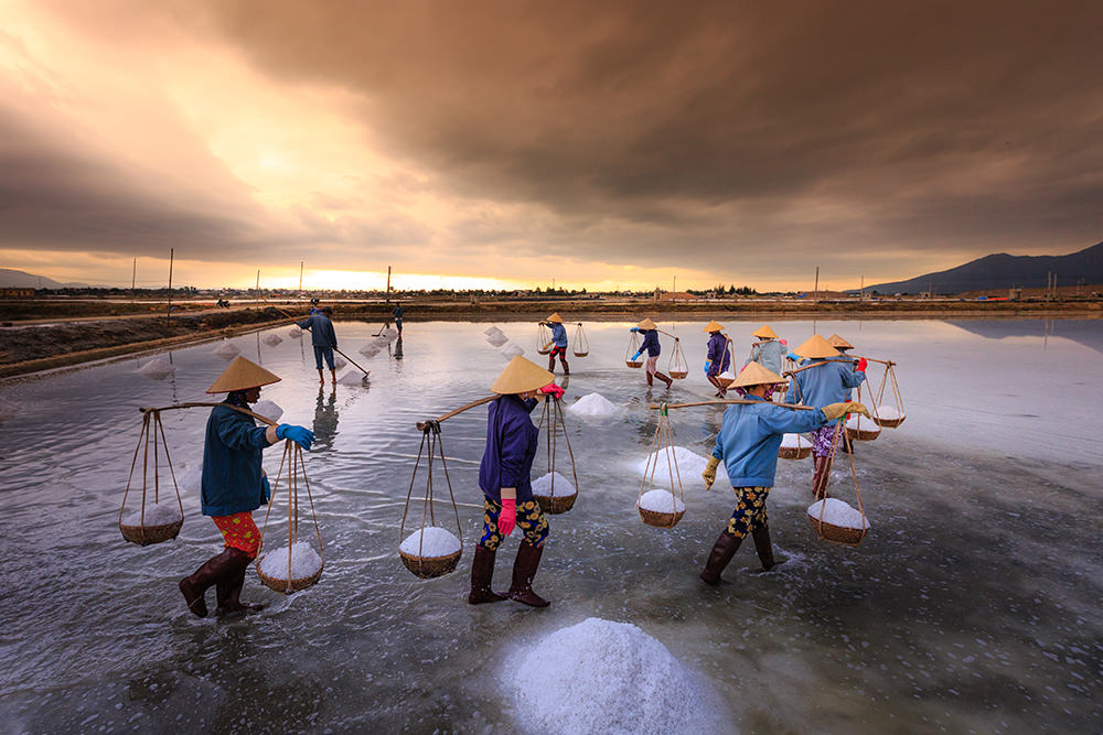 Salt making in Vietnam