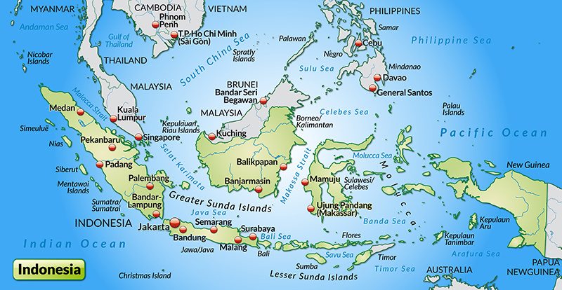 map Indonesia Traveling-Forever