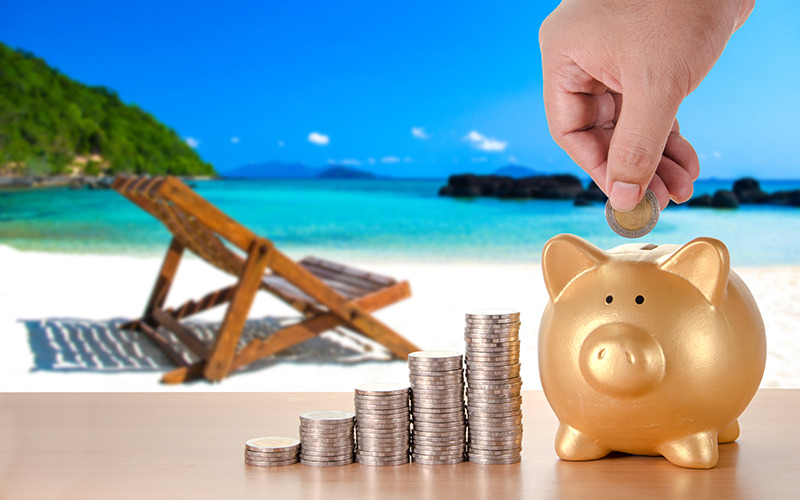traveling-forever beach saving budgeting travel